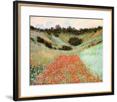 Poppy Field In A Hollow-Claude Monet-Framed Art Print