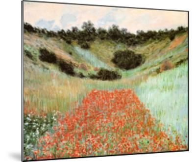 Poppy Field In A Hollow-Claude Monet-Mounted Art Print