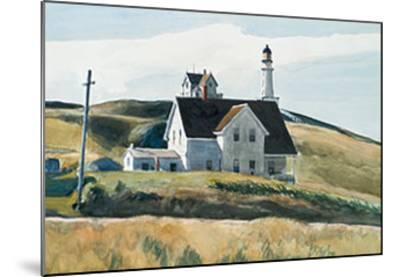 Hill And House, Cape Elizabeth, Maine; 1927-Edward Hopper-Mounted Art Print