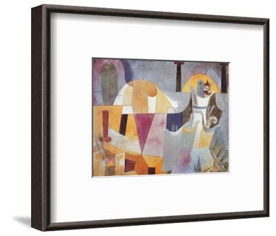 Landscape with Black Columns-Paul Klee-Framed Art Print