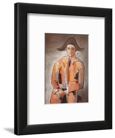 Harlequin with Folded Hands, c.1923-Pablo Picasso-Framed Art Print
