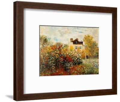 The Artist's Garden in Argenteuil-Claude Monet-Framed Art Print