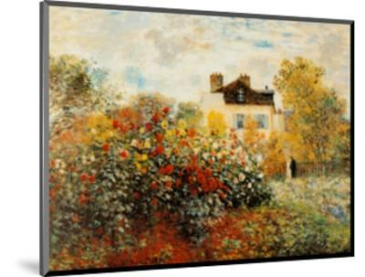 The Artist's Garden in Argenteuil-Claude Monet-Mounted Art Print