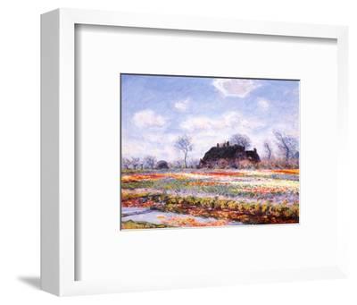Tulip Fields at Sasenheim-Claude Monet-Framed Art Print