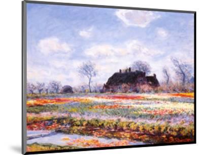 Tulip Fields at Sasenheim-Claude Monet-Mounted Art Print