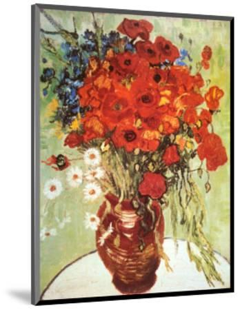 Vase with Daisies and Poppies-Vincent van Gogh-Mounted Art Print