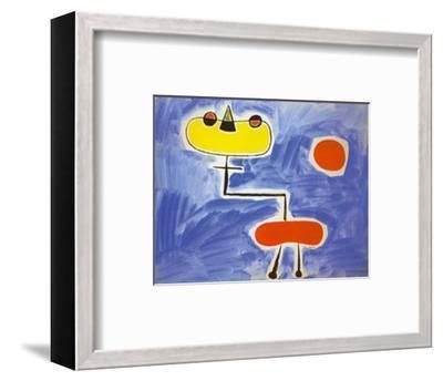 Figur Vor Roter Sonne-Joan Mir?-Framed Art Print