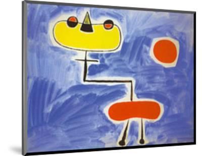Figur Vor Roter Sonne-Joan Mir?-Mounted Art Print
