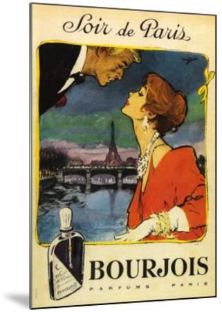 Soir De Paris--Mounted Art Print