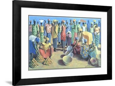 Fruit Merchants-Jan Kruip-Framed Art Print