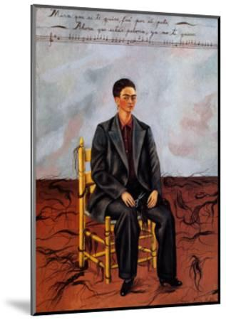 Self-Portrait with Cropped Hair, 1940-Frida Kahlo-Mounted Art Print