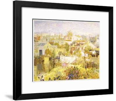 Acequia de los Linos-Goyo Dominguez-Framed Art Print