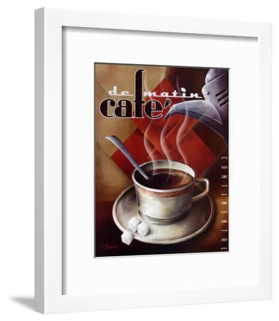 Cafe de Matin-Michael L^ Kungl-Framed Art Print