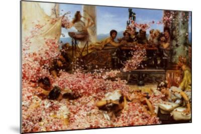 The Roses of Heliogabalus-Sir Lawrence Alma-Tadema-Mounted Art Print