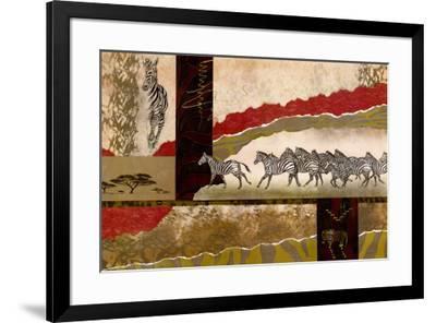 Serengeti Zebras-Joseph Poirier-Framed Art Print