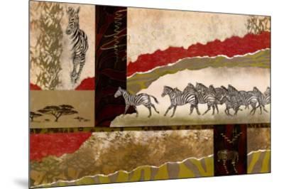 Serengeti Zebras-Joseph Poirier-Mounted Art Print