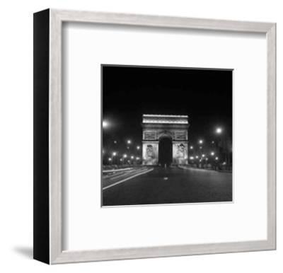 Paris, Champs-Elysees, Arc de Triumph, 1960's--Framed Art Print