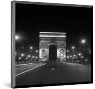 Paris, Champs-Elysees, Arc de Triumph, 1960's--Mounted Art Print