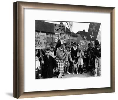 Saving Butch From The Dog Catcher--Framed Art Print