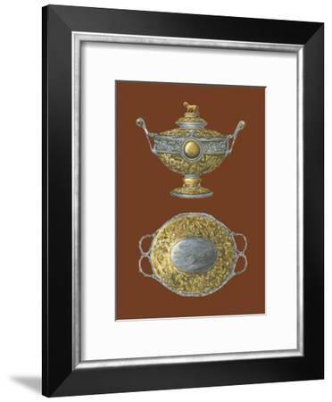 Silver Serving Pieces I--Framed Art Print