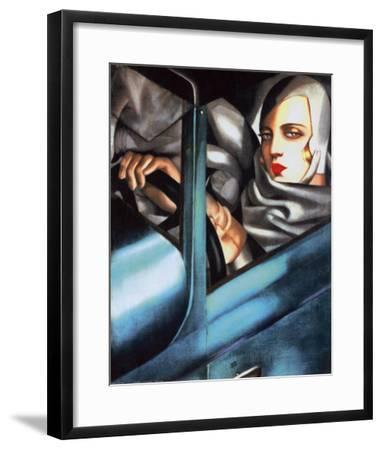Autoportrait-Tamara de Lempicka-Framed Art Print