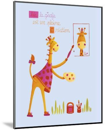 Painting Worshop-Ibrahima-Mounted Art Print