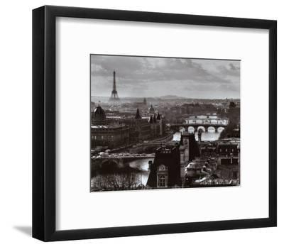 The River Seine and the City of Paris, c.1991-Peter Turnley-Framed Art Print