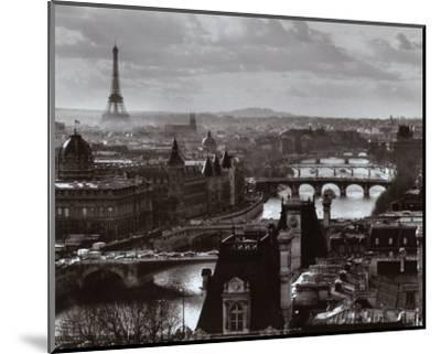 The River Seine and the City of Paris, c.1991-Peter Turnley-Mounted Art Print