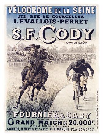 S.F. Cody vs. Fournier and Gaby--Framed Giclee Print