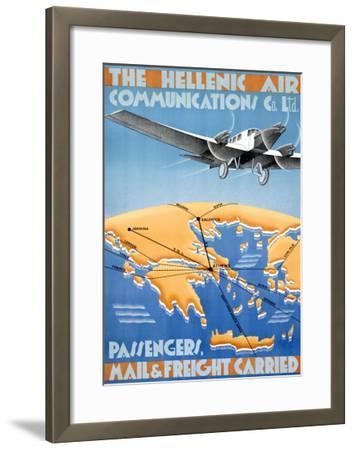 Hellenic Air-Lyda-Framed Giclee Print