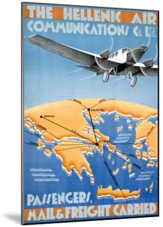 Hellenic Air-Lyda-Mounted Giclee Print