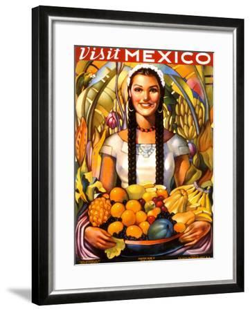 Visit Mexico, 1939--Framed Giclee Print