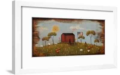 The Red Schoolhouse-Jessica Fries-Framed Art Print