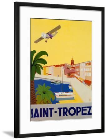 Saint Tropez-Chomel-Framed Art Print
