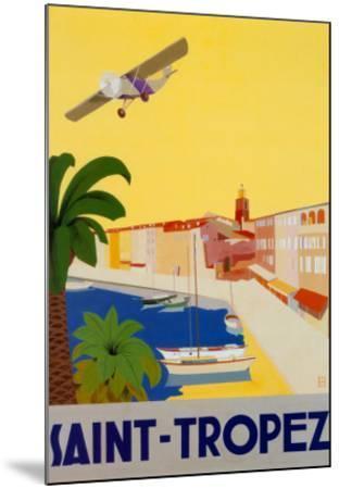Saint Tropez-Chomel-Mounted Art Print