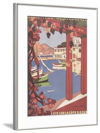 Cote d'Azur--Framed Art Print