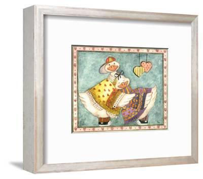 Geese Family II-Isabelle De Bercy-Framed Art Print