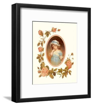 Childhood Flowers I--Framed Art Print