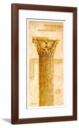 Sepia Column Study IV-Javier Fuentes-Framed Art Print