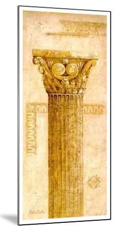 Sepia Column Study IV-Javier Fuentes-Mounted Art Print