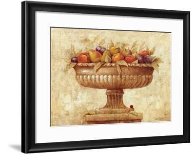 Jarron con Frutas I-Javier Fuentes-Framed Art Print