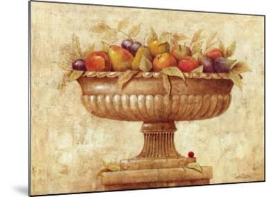 Jarron con Frutas I-Javier Fuentes-Mounted Art Print