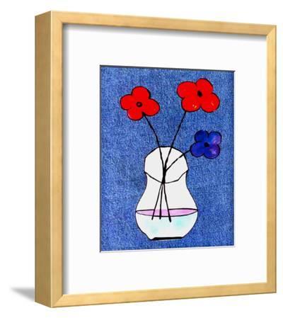 Flowers in Jeans I-J^ Clark-Framed Art Print