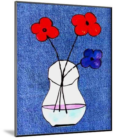 Flowers in Jeans I-J^ Clark-Mounted Art Print