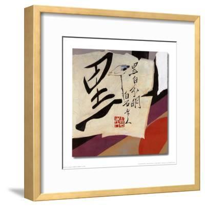 Oriental Symbols III-Trang Lee-Framed Art Print