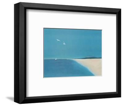 Wings in the Bleu II-A^ Spitz-Framed Art Print
