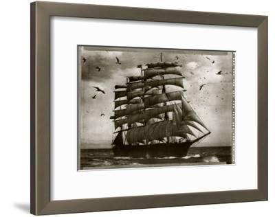 Three Master in Full Sail 1905--Framed Art Print