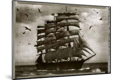 Three Master in Full Sail 1905--Mounted Art Print