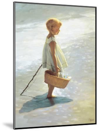 Young Girl on a Beach-I^ Davidi-Mounted Art Print