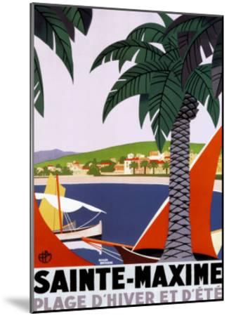 Sainte Maxime-Roger Broders-Mounted Art Print